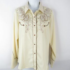 Scully Western Snap Studded Long Sleeved Shirt